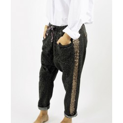 PANTALON JOGGING ANIMAL PRINT GRIS