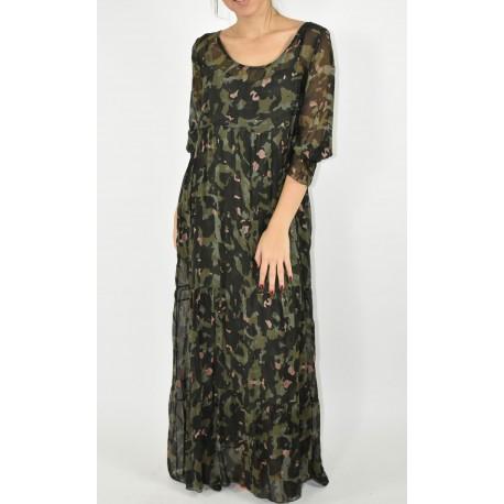 Vestido camuflaje mujer